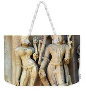 Royal Couple In Stone Weekender Tote Bag
