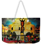 Jesus And Bourbon Weekender Tote Bag