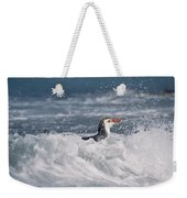 Royal Penguin Swimming In Surf Weekender Tote Bag