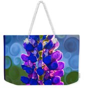 Royal Purple Lupine Flower Abstract Art Weekender Tote Bag