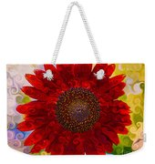 Royal Red Sunflower Weekender Tote Bag