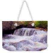 Royal River White Waterfall Weekender Tote Bag