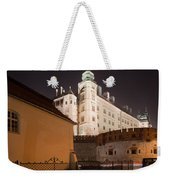 Royal Wawel Castle By Night In Krakow Weekender Tote Bag