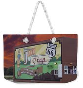 Rt 66 Dwight Il Java Stop Weekender Tote Bag