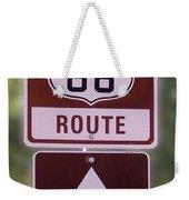 Rt 66 Signage Weekender Tote Bag