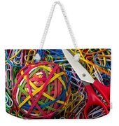 Rubber Band Ball With Sccisors Weekender Tote Bag