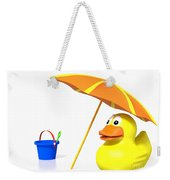 Rubber Duck At The Beach Weekender Tote Bag