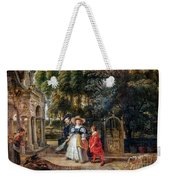 Rubens In His Garden With Helena Fourment Weekender Tote Bag