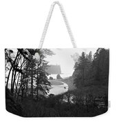 Ruby Beach In The Winter In Black And White Weekender Tote Bag