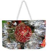 Ruby Red Ornament Weekender Tote Bag
