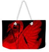 Ruby Red Swan Weekender Tote Bag