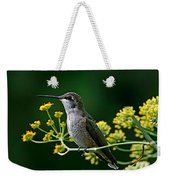 Ruby Throated Hummingbird 1 Weekender Tote Bag