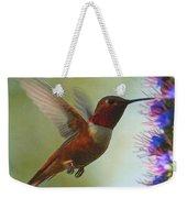 Ruby Throated Hummingbird Digital Art Weekender Tote Bag