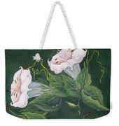 Hummingbird And Lilies Weekender Tote Bag