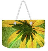 Rudbeckia On Cement Weekender Tote Bag