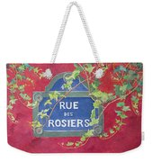 Rue Des Rosiers In Paris Weekender Tote Bag