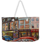 Rue Saint Laurent Club Soda Montreal Weekender Tote Bag