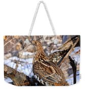 Ruffed Grouse On Alert Weekender Tote Bag