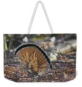 Ruffed Grouse Rear Strut Weekender Tote Bag