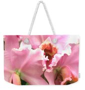 Ruffles And Flourishes Cattleya Orchids Weekender Tote Bag
