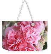 Ruffly Pink Hollyhock Weekender Tote Bag