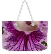 Ruffly Purple Orchid Closeup Weekender Tote Bag