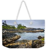 Rugged Coast Of Pacific Ocean On Vancouver Island Weekender Tote Bag