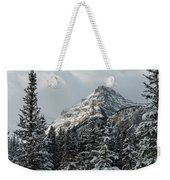 Rugged Mountain Peak With Snow Weekender Tote Bag