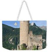 ruins of Chatelard castle Weekender Tote Bag