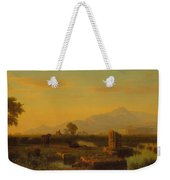 Ruins Of Paestum Weekender Tote Bag by Albert Bierstadt
