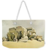Ruins Of The Temple Of Kom Ombo Weekender Tote Bag by David Roberts