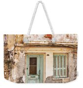 Run-down Building In Rethymnon Weekender Tote Bag