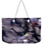 Runners Along Street In A Marathon Blurred And Abstract Weekender Tote Bag