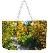 Runner's Path In Autumn Weekender Tote Bag