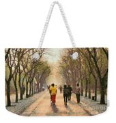 Running Early In The Morning Weekender Tote Bag