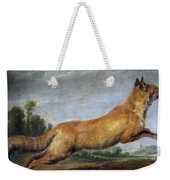 Running Fox Weekender Tote Bag