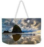 Running Free - Dogs Running In Beautiful Cannon Beach. Weekender Tote Bag by Jamie Pham