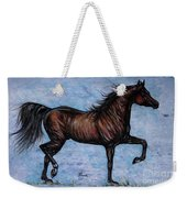 Running In The Blue Weekender Tote Bag