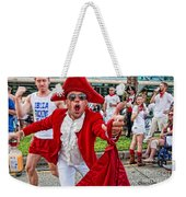 Running Of The Bulls New Orleans Matador Weekender Tote Bag