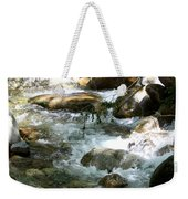 Running Over Rocks Weekender Tote Bag