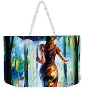 Running Towards Love - Palette Knife Oil Painting On Canvas By Leonid Afremov Weekender Tote Bag