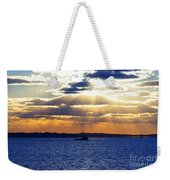 Running With The Light Weekender Tote Bag