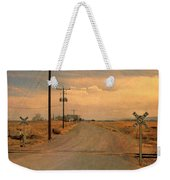 Rural Railroad Crossing Weekender Tote Bag