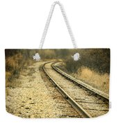 Rural Railroad Tracks Weekender Tote Bag