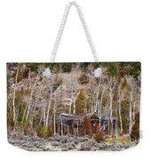 Rural Rustic Rundown Rocky Mountain Cabin Weekender Tote Bag