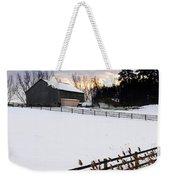 Rural Winter Landscape Weekender Tote Bag by Elena Elisseeva
