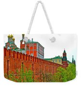 Russian Orthodox Church From Park Outside The Kremlin In Moscow-russia Weekender Tote Bag
