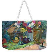 Russian Picnic Still Life Weekender Tote Bag
