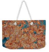 Rust Abstract Weekender Tote Bag