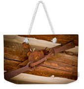 Rust Trapped On A Log - Old Trap - Casper Wyoming Weekender Tote Bag